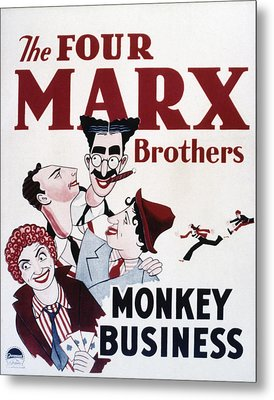 Monkey Business, Clockwise From Top Metal Print by Everett