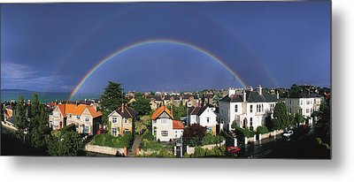 Monkstown, Co Dublin, Ireland Rainbow Metal Print by The Irish Image Collection