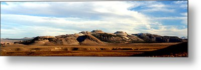 Mono Craters Panorama Metal Print