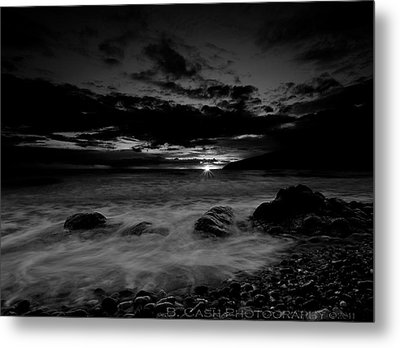 Monochrome Sunset  Metal Print by Beverly Cash