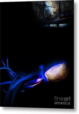 Monsters Of The Open Ocean Metal Print by Wingsdomain Art and Photography