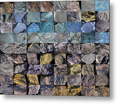 Montage Blue Beach Fossil Specimens Metal Print by William OBrien