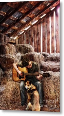 Montana Boy Metal Print by Shawna Mac