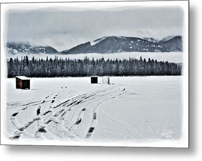 Metal Print featuring the photograph Montana Ice Fishing by Janie Johnson