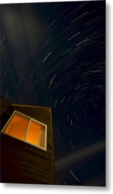 Montauk Star Trails Metal Print by Mike Horvath