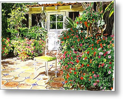 Monterey Guest House Metal Print by David Lloyd Glover