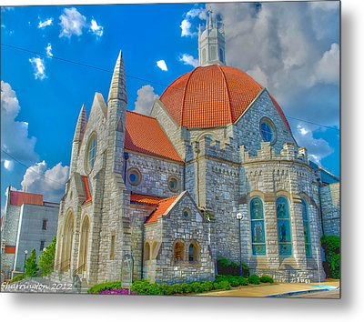 Montgomery Baptist Church Hdr Metal Print by Shannon Harrington