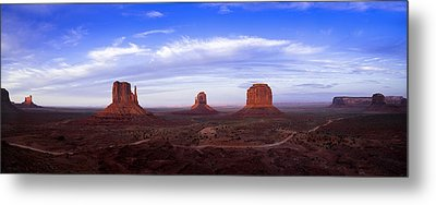 Monument Valley At Dusk Metal Print