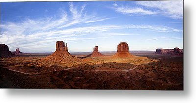 Monument Valley Panorama Metal Print by Andrew Soundarajan