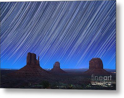 Monument Valley Star Trails 1 Metal Print
