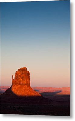 Monument Valley Sunset Metal Print by Dave Bowman
