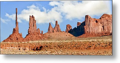 Monument Valley Totem Pole Metal Print by Bob and Nadine Johnston