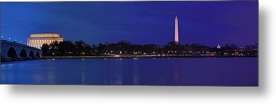 Monuments On The Potomac Metal Print