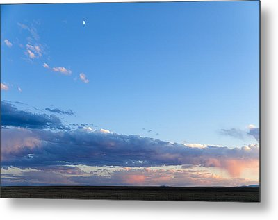 Metal Print featuring the photograph Moon Above The Horizon by Monte Stevens