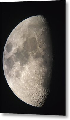 Metal Print featuring the photograph Moon Against The Black Sky by John Short