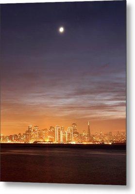 Moon And Sf From Treasure Island Metal Print by Rob Kroenert
