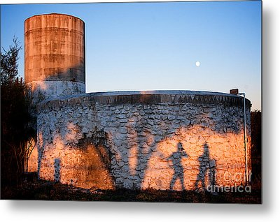 Moon And Shadow Metal Print