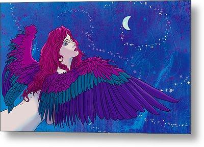 Moon Angel Metal Print