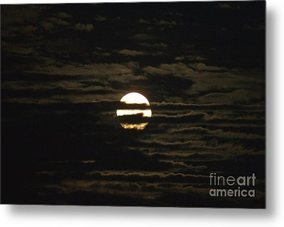 Metal Print featuring the photograph Moon Behind The Clouds by William Norton