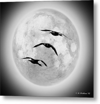 Moon Geese Metal Print by Brian Wallace