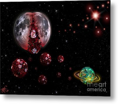 Moon In Labour Metal Print by Rosa Cobos