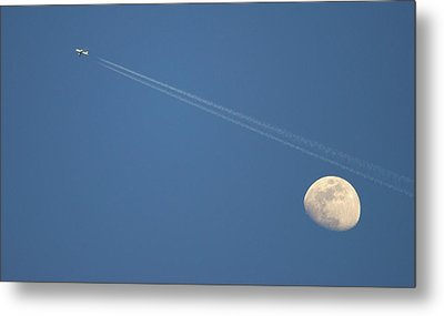 Moon In Sky Metal Print by Vittorio Ricci - Italy