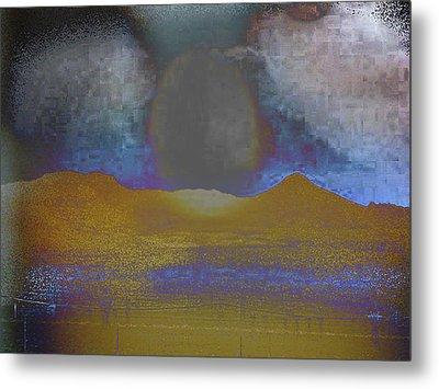 Moon Over Arizona 2 Metal Print by Lenore Senior and Angela L Walker