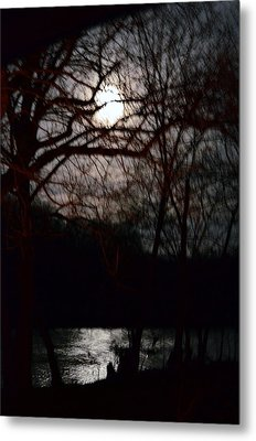 Metal Print featuring the photograph Moon Over Maury by Cathy Shiflett