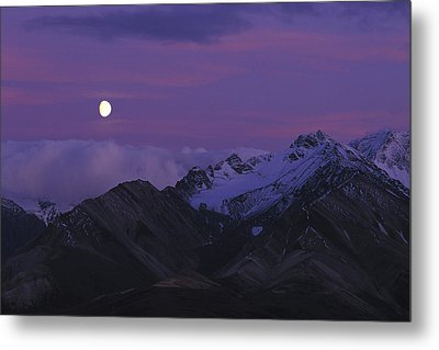 Moon Over Mountains Metal Print by Nick Norman