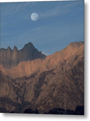 Moon Over Whitney Metal Print