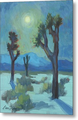 Moon Shadows At Joshua Metal Print