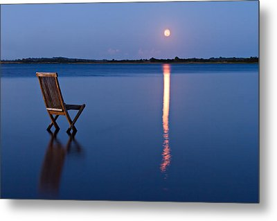 Metal Print featuring the photograph Moon View by Gert Lavsen