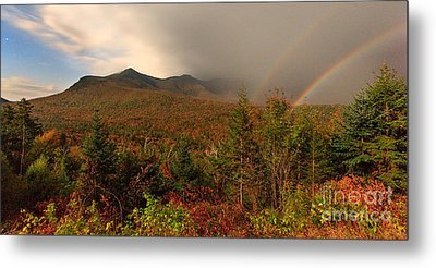 Metal Print featuring the photograph Moonbow Over The Kancamagus by Charles Kozierok
