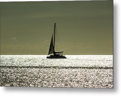 Moonlight Sail Metal Print by Rene Triay Photography