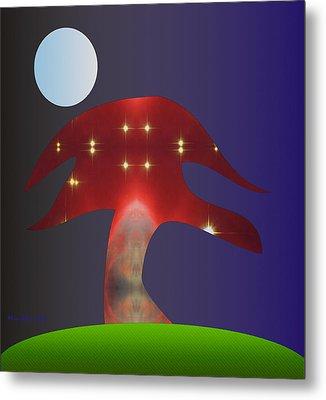 Metal Print featuring the digital art Moonlight Sonata by Asok Mukhopadhyay