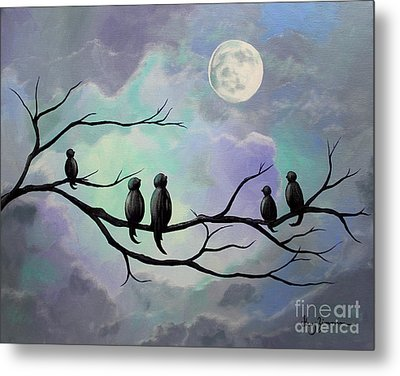 Metal Print featuring the painting Moonlight Sonata by Stacey Zimmerman