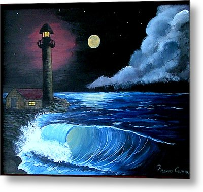Moonlit Ocean Metal Print by Fram Cama