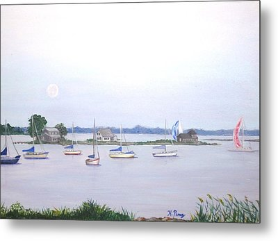Moonrise In Summer Metal Print by Heather Perez