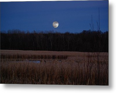 Metal Print featuring the photograph Moonrise by Steven Clipperton