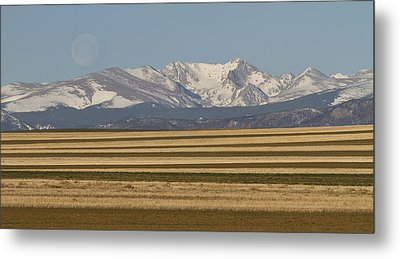 Moons Set On The Colorado Plains Metal Print by James BO  Insogna