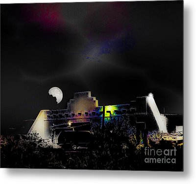 Moonset - Wild Horse Saloon Metal Print by Arne Hansen
