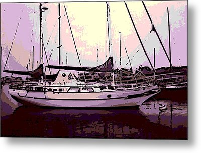 Moored Metal Print by George Pedro