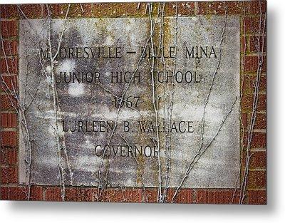 Mooresville - Belle Mina Junior High School 1967 Metal Print by Kathy Clark