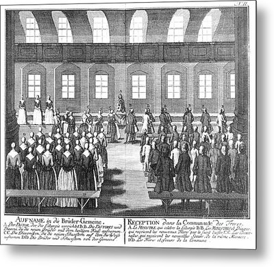 Moravians, 1757 Metal Print by Granger