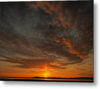 Morecambe Sunset Metal Print by Christopher Mercer
