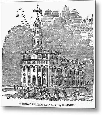 Mormon Temple, Nauvoo Metal Print by Granger