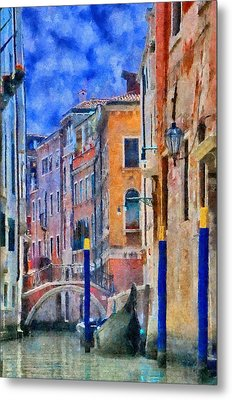 Morning Calm In Venice Metal Print by Jeff Kolker