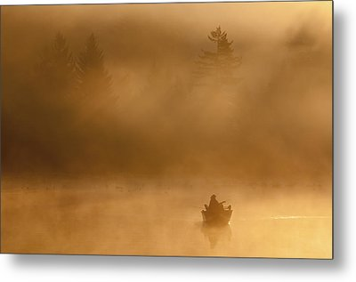 Morning Catch Metal Print by Joseph Rossbach