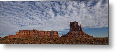 Morning Clouds Over Monument Valley Metal Print by Robert Postma