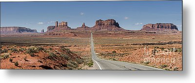 Morning In Monument Valley Metal Print by Sandra Bronstein